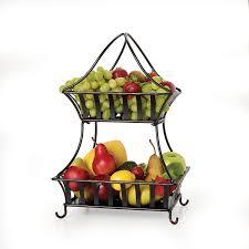 amazon com gourmet basics by mikasa stripe 2 tier metal basket