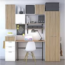 bureau leroy merlin achat bureau spaceo home décor chêne prix