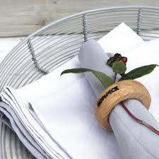 how to set a table with napkin rings circular napkin rings set of four hop peck