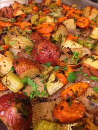 Roasted Vegetable Recipes by Easy Roasted Vegetables With Fresh Herbs Kevin Is Cooking