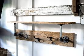 entry shelf warming up a fall entry with an industrial farmhouse reclaimed