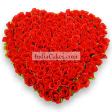 100 Roses Order 100 Heart Roses Bond Of Love Today Indiacakes