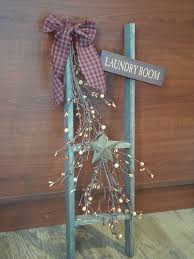 Primitive Laundry Room Decor Country Laundry Room Sign Ladder Decor