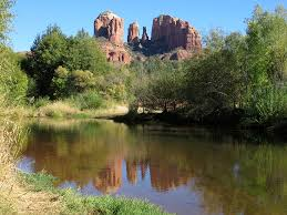 Cathedral Rock Reflections At Sunset Red Rock Crossing Crescent Moon Picnic Area And Ranch