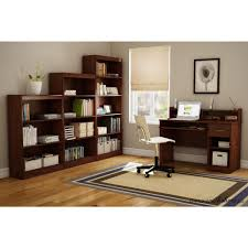 south shore axess royal cherry desk with hutch 7246076 the home