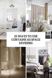 25 ways to use curtains as space dividers digsdigs
