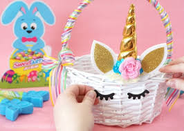 bunny baskets how to make a diy unicorn easter basket i heart crafty things