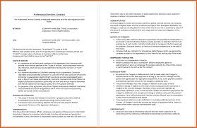 service agreement template resume name