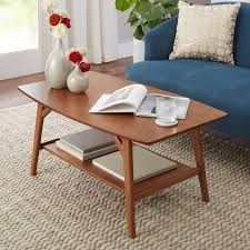 mid century end table better homes gardens reed mid century modern coffee table pecan