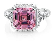 pink crystal rings images Ring with pink white cubic zirconias in sterling silver jpg