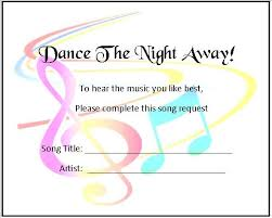 wedding song request cards 24 personalised wedding song request cards musical notes
