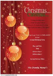free christmas invitation templates for word christmas party