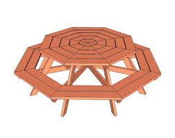 octagon picnic table plans with umbrella hole octagon table plans free hexagon picnic table plans octagon picnic