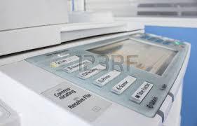 photocopieur bureau la vie de bureau fax photocopieur le bouton de démarrage de près