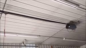 Garage Door Opener Shaft Drive by Raynor 1 2hp Garage Door Opener Youtube