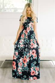 maxi dresses with sleeves navy watercolor floral maxi modest dress best and affordable