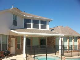 Patio Builders Houston Tx Aluminum Patio Cover With Roofing Shingles In Houston Lone Star