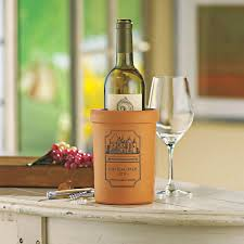 Single Wine Bottle Holder by Personalized Terra Cotta Wine Chiller Wine Enthusiast