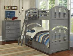 Kids Twin Bed With Storage Ne Kids Lake House Twin Bunk Bed With Arched Headboard And