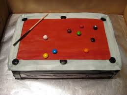 Red Felt Pool Table Sports And Recreation Tracy U0027s Custom Cakes