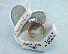 turn an engagement wedding ring box into a ornament