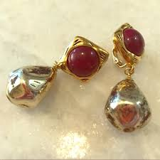 how to make clip on earrings vintage vintage richelieu clip on earrings from genevieve s