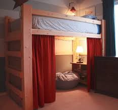 Queen Loft Bed With Desk by Ikea Queen Size Loft Bed With Red Curtain U2013 I Dunt Think Ikea
