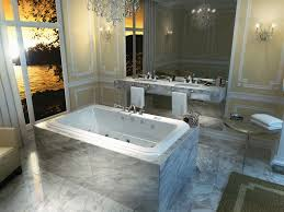 bathroom 2017 elegant spa bathroom with marble drop in bathtub
