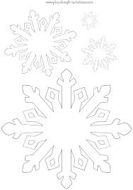 snowflake outline template free printable