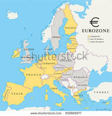 european countries on a map brexit european union map outline political stock vector 442510042