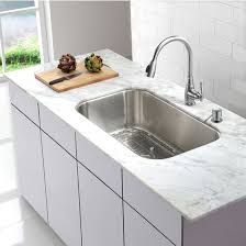 Kraus Kitchen Sinks Kraus 31 1 2 Undermount Single Bowl Stainless Steel Kitchen Sink