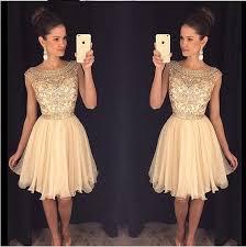 beaded homecoming dress see through prom dress short chiffon