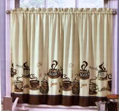 Curtains Kitchen Cafe Java Latte Mocha Zebra Animal Print Kitchen Window Curtains 2