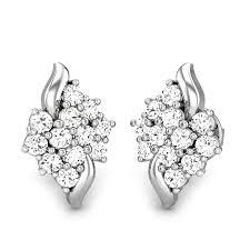 diamond earing diamond white gold 14k aanadi diamond earring candere