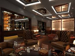 cigar bar interior design restaurant spazio