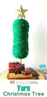 easy no sew diy yarn tree home decor