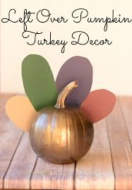 leftover pumpkin turkey decor