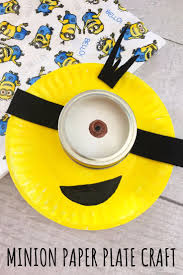 minion paper plate craft for kids easy rainy day activity
