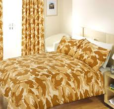 orange camo bedding