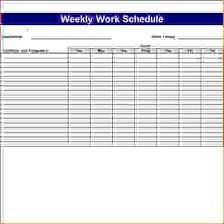 8 excel weekly schedule template memo formats