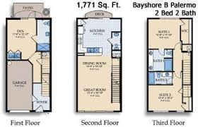 3 story townhouse floor plans vista cay resort international drive orlando florida