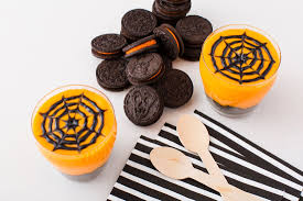 how to make oreo spider web halloween pudding brit co