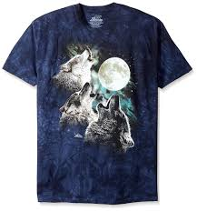 Red Black And Green Flag With Moon And Star Amazon Com The Mountain Three Wolf Moon Short Sleeve Tee Clothing