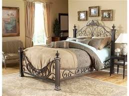 bed king metal bed frame headboard footboard home interior design