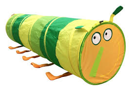 amazon com happy face caterpillar tunnel kids play tent by poco