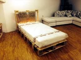 Crate Bed Frame Diy Pallet Bed With Lights 99 Pallets