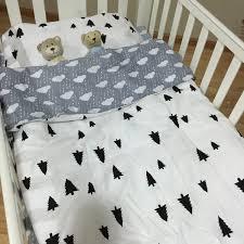 Childrens Cot Bed Duvet Sets 3pcs Baby Bedding Set Crib Bed Linen Kit Cotton Newborn Cama