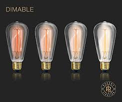 Edison Light Bulbs Vintage Edison Light Bulb 60w 4 Pack Dimmable Exposed Filament
