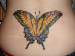 lower back tattoos butterfly back tattoos beautiful lower back