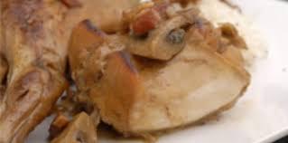 cuisiner du lapin facile lapin au cidre et aux chignons facile recette sur cuisine actuelle